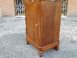 Antique Louis Philippe Bedside table in walnut - Italy 19th-9