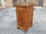 Antique Louis Philippe Bedside table in walnut - Italy 19th-3