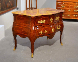 Extraordinary chest of drawers Louis XV, Rome, half-eighteen-13