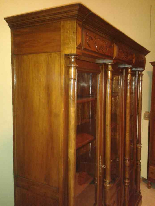 Antica Biblioteca Libreria 3 ante in noce - XIX secolo-12