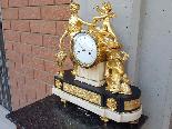 Ancien Horloge Pendule Louis XVI en bronze - 18ème siècle-4