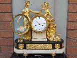 Ancien Horloge Pendule Louis XVI en bronze - 18ème siècle-17