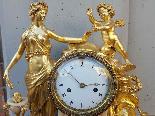 Ancien Horloge Pendule Louis XVI en bronze - 18ème siècle-6