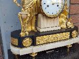 Ancien Horloge Pendule Louis XVI en bronze - 18ème siècle-12