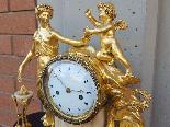 Ancien Horloge Pendule Louis XVI en bronze - 18ème siècle-8