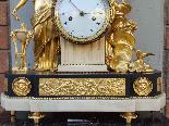 Ancien Horloge Pendule Louis XVI en bronze - 18ème siècle-11