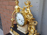 Ancien Horloge Pendule Louis XVI en bronze - 18ème siècle-10