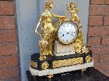 Ancien Horloge Pendule Louis XVI en bronze - 18ème siècle-1
