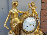 Ancien Horloge Pendule Louis XVI en bronze - 18ème siècle-7