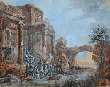 Circolo di JB LALLEMAND (1716-1803), Vedute architettoniche-2