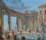 Circolo di JB LALLEMAND (1716-1803), Vedute architettoniche-4