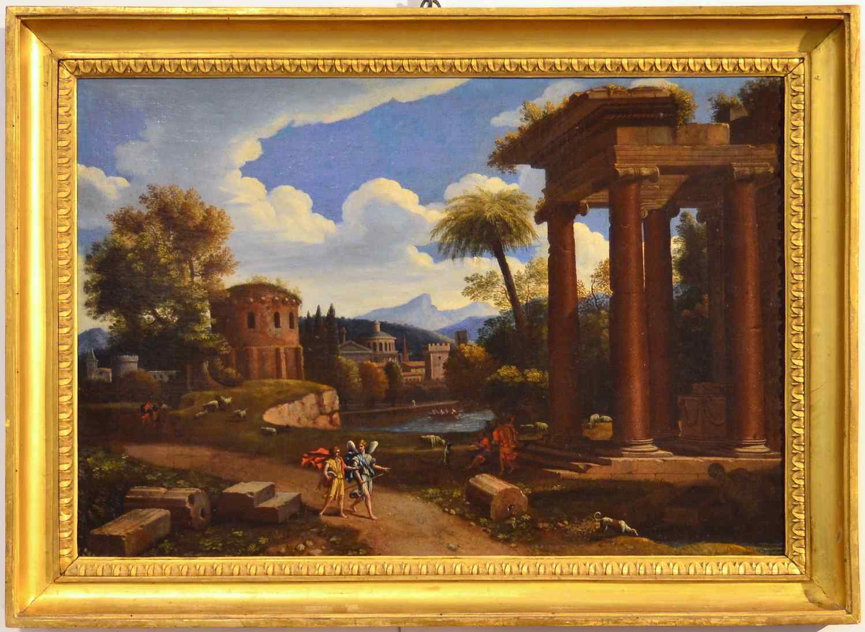 Domenico Zampieri 'Domenichino' attr., Paysage arcadien