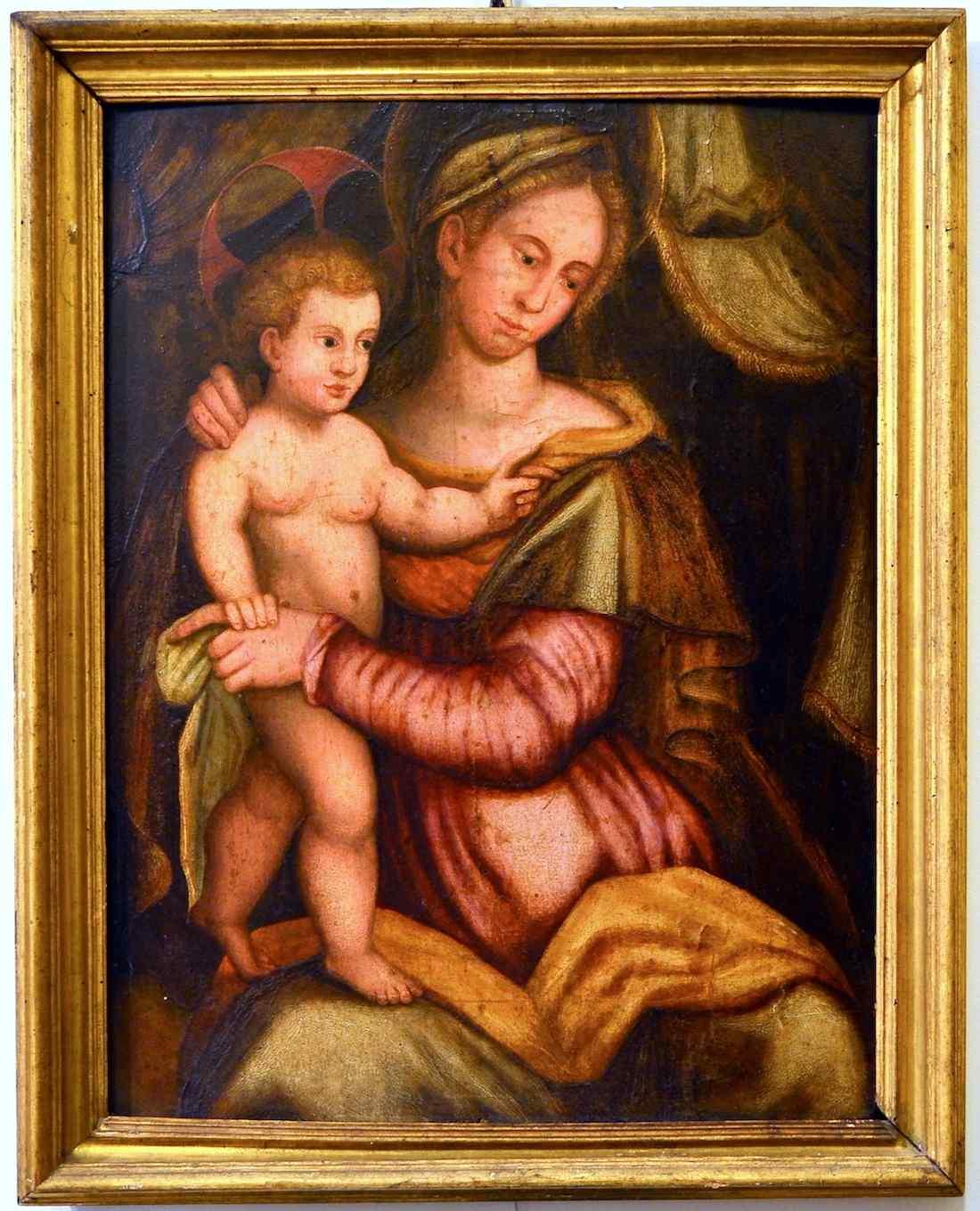 Scuola toscana inizio XVI secolo, Madonna con bambino