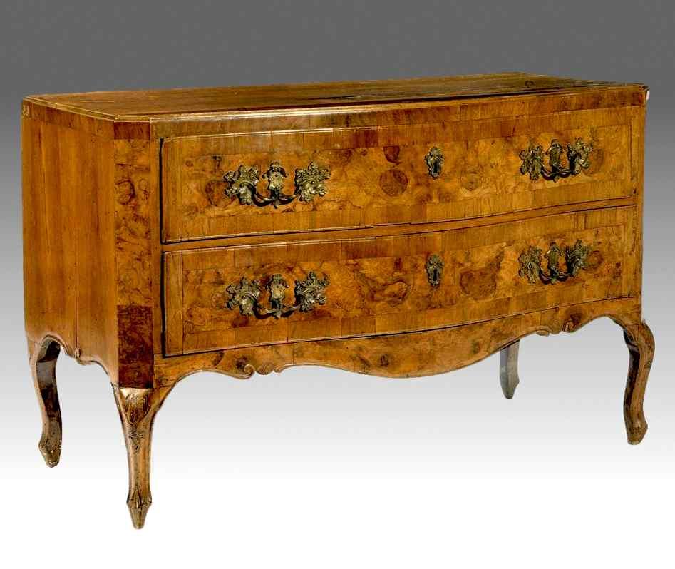 Comò a due cassetti Luigi XV, metà Settecento, Veneto