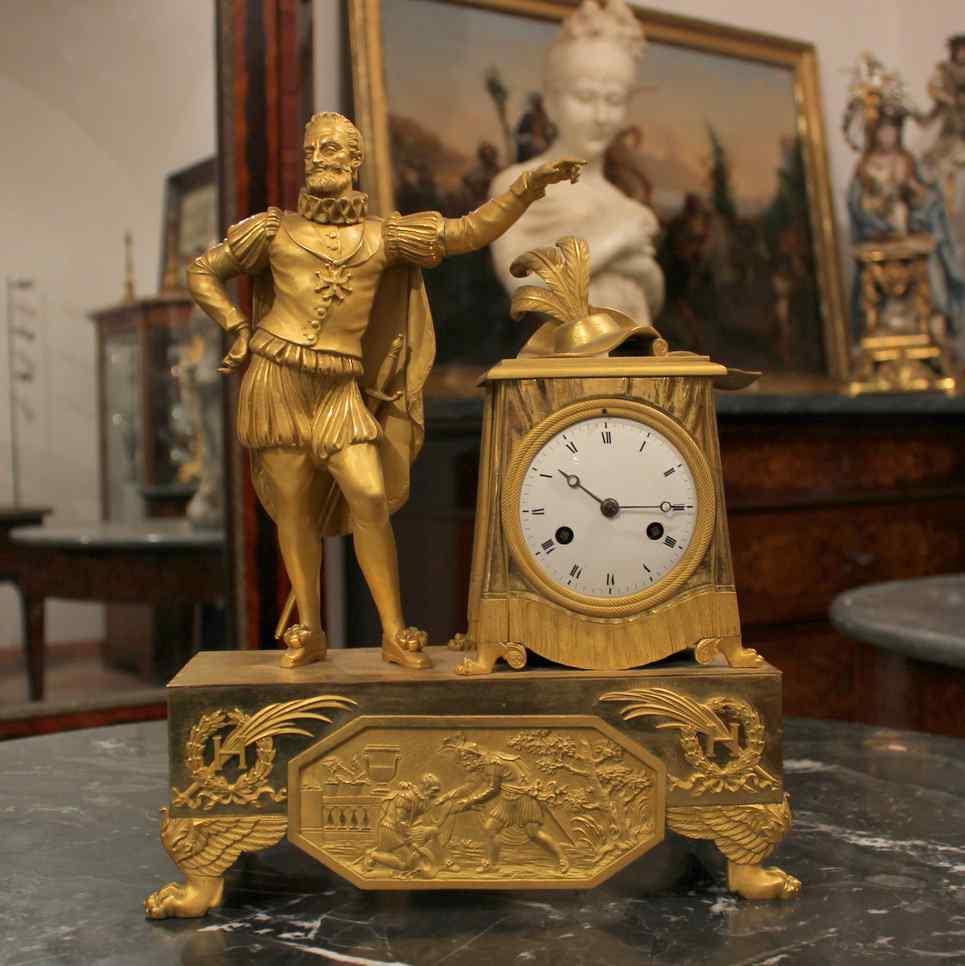 Смотреть Французская империя золоченая бронза