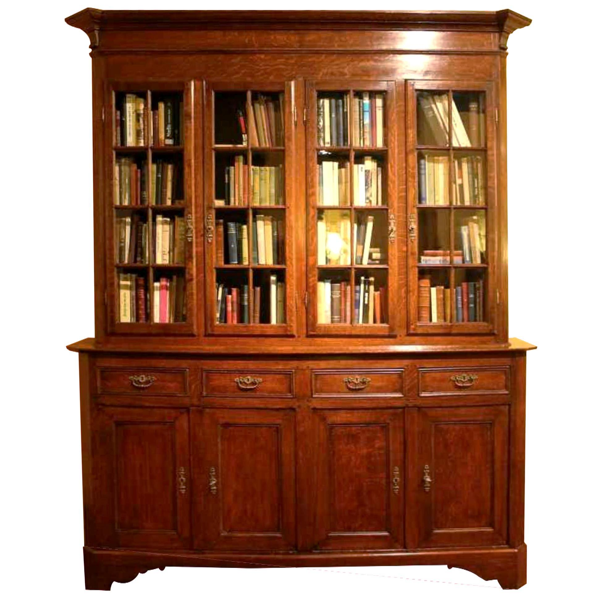 oak french library 19 century
