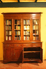 oak french library 19 century-2