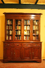 oak french library 19 century-0