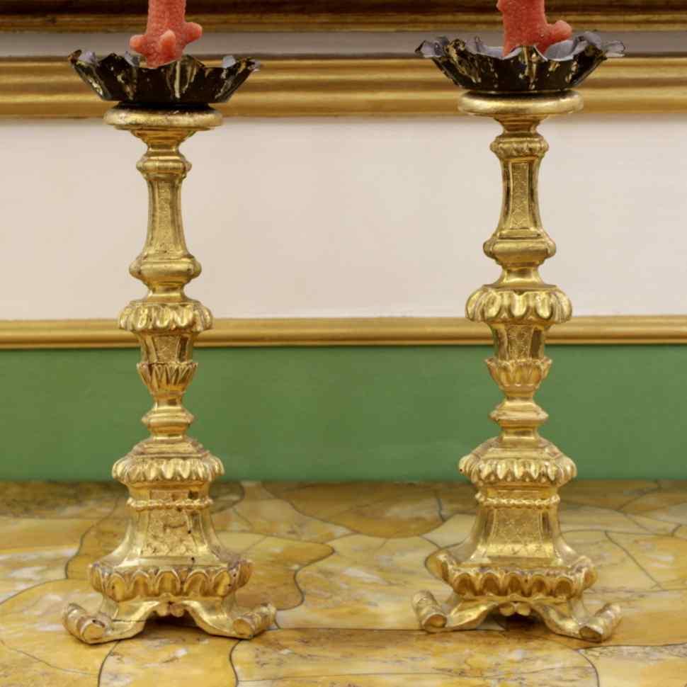 Coppia di candelieri fiorentini