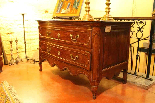 18th century French oak curved chest-0