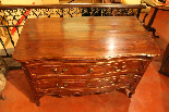 18th century French oak curved chest-1