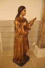 Sainte Philomène, grande sculpture en bois XIXème siècle-2