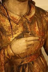 Sainte Philomène, grande sculpture en bois XIXème siècle-7