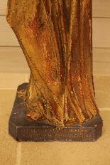 Sainte Philomène, grande sculpture en bois XIXème siècle-10
