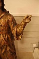 Sainte Philomène, grande sculpture en bois XIXème siècle-5