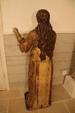 Sainte Philomène, grande sculpture en bois XIXème siècle-9