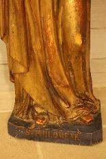 Sainte Philomène, grande sculpture en bois XIXème siècle-1