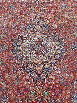 Tres Grand Tapis Kachan - Iran Vers 1930 - Grande Dimension-3