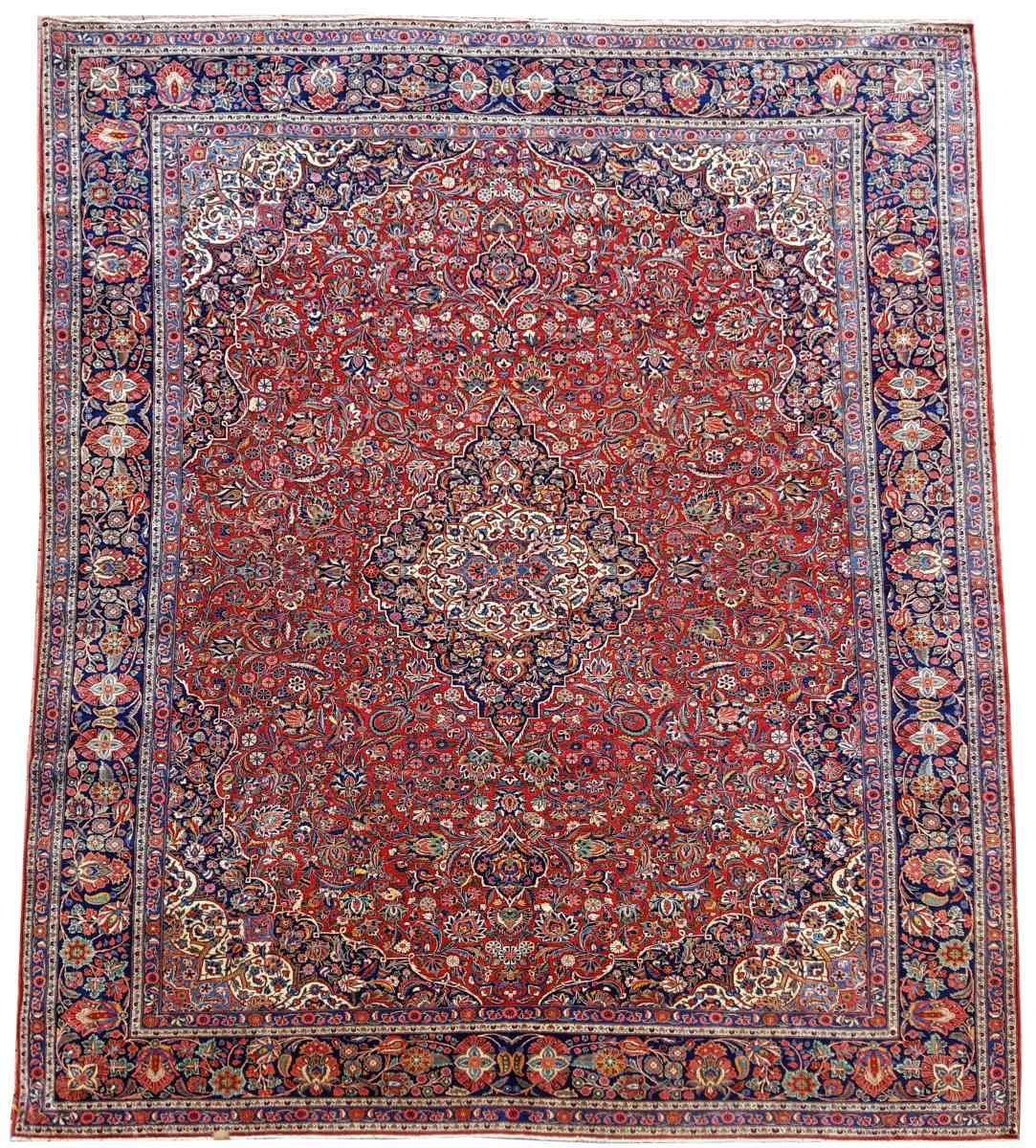Tres Grand Tapis Kachan - Iran Vers 1930 - Grande Dimension