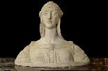 Buste d'une jeune fille en marbre blanc de Carrare du XIXe s-2