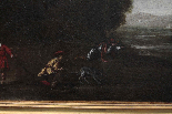 Dipinto del '700, scena di caccia-3