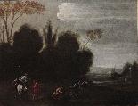 Dipinto del '700, scena di caccia-1