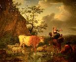Karel Dujardin (1626 - 1678), Il riposo dei pastori-2