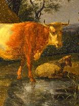 Karel Dujardin (1626 - 1678), Il riposo dei pastori-1