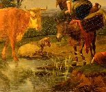Karel Dujardin (1626 - 1678), Il riposo dei pastori-3