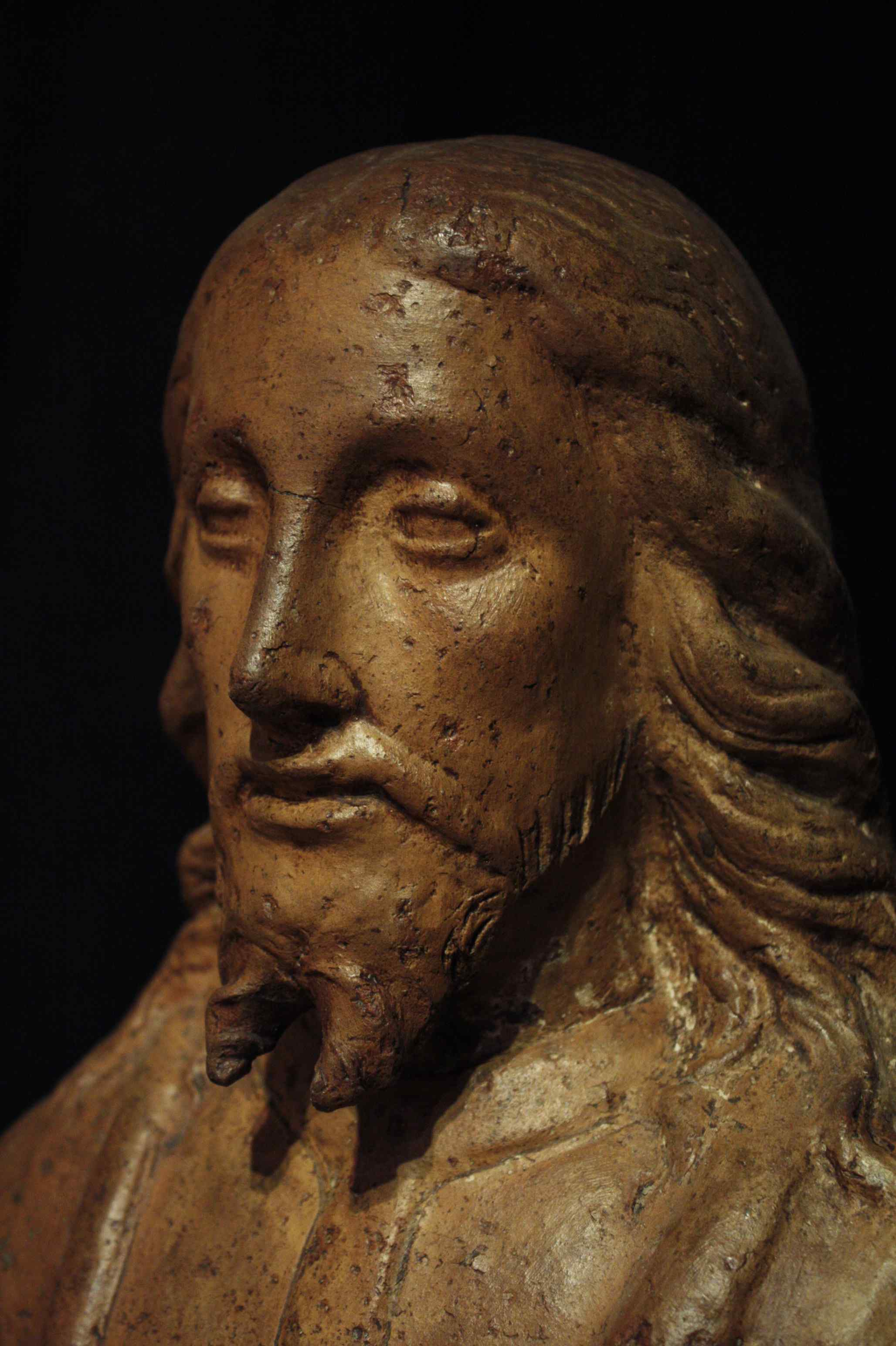 Busto di Crsto in terracotta