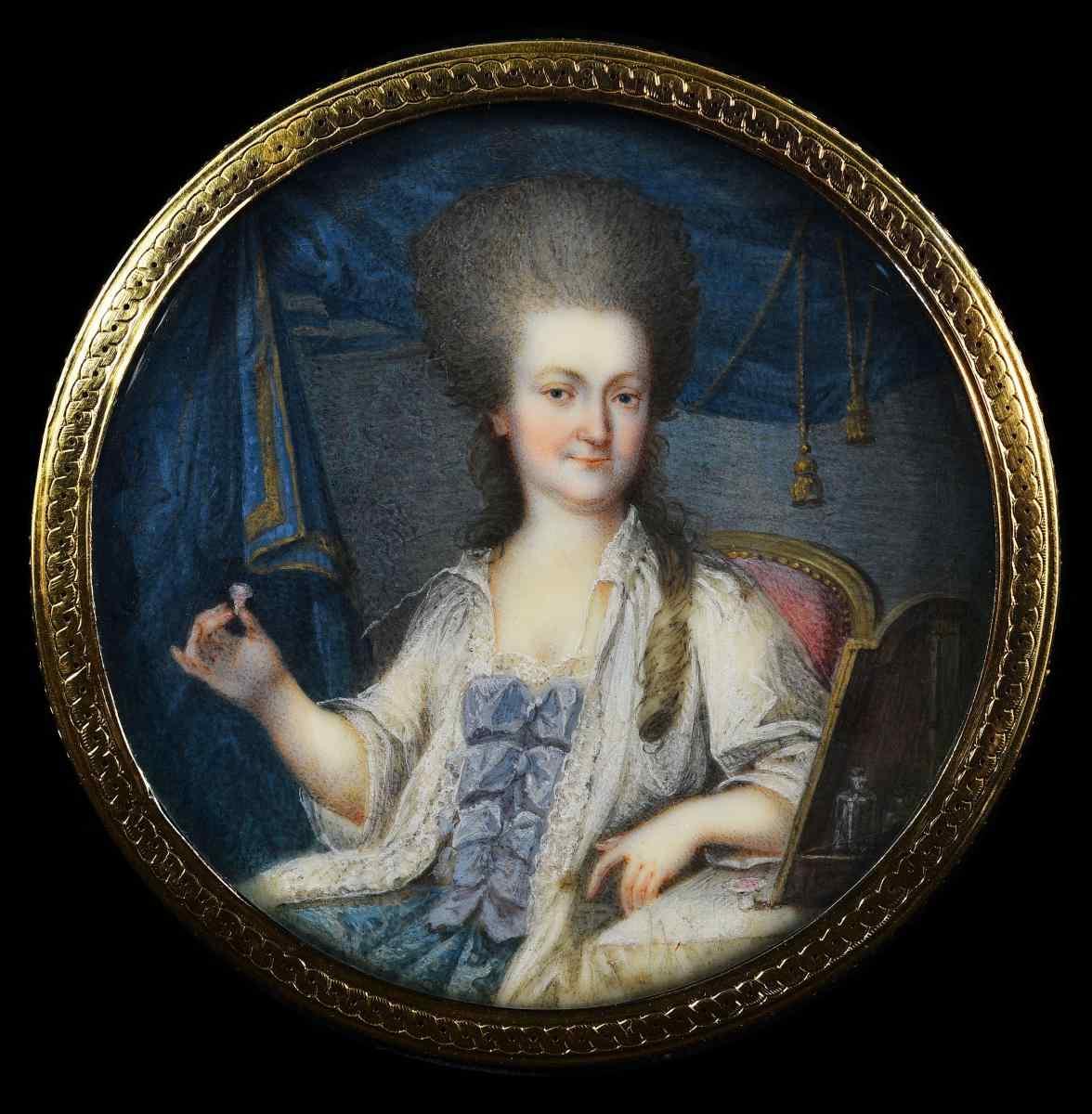 Шведская школа, «Портрет леди с кольцом» Миниатюра