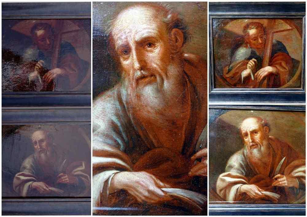 Saint Barthelemy & Saint Simon Paire d'Ecoles Italiennes 17è