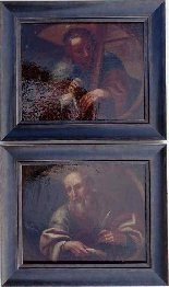 Saint Barthelemy & Saint Simon Pair of Italian Schools 17th-7