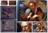Saint Barthelemy & Saint Simon Paire d'Ecoles Italiennes 17è-2