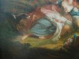 Античная масляная живопись на холсте с рамкой - 19 век-4
