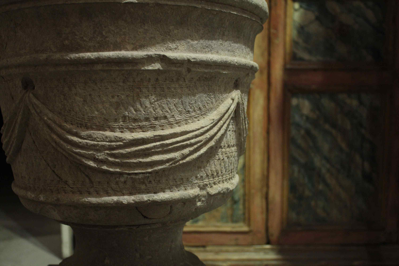 Vaso in pietra del XVIII sec