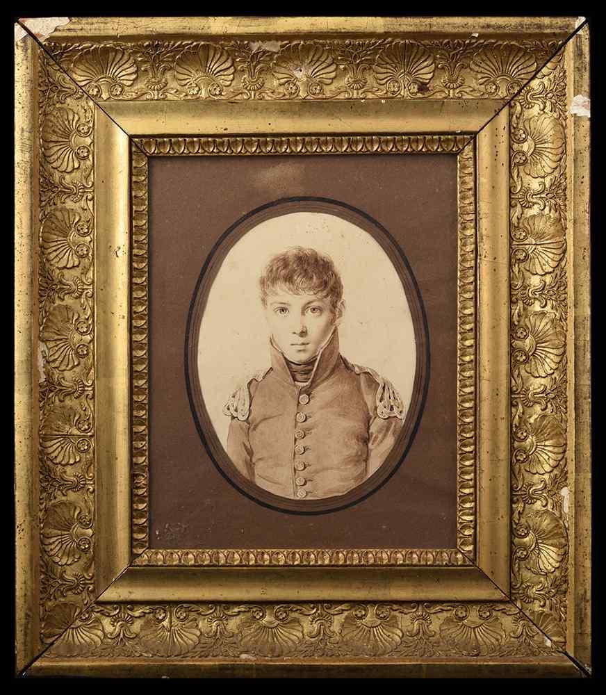 Henri Joseph Hesse, Ritratto di un ragazzo in uniforme naval