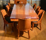 An art deco dinner table ambonya with 8 chairs of ambonya-0