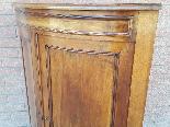 Antica Angoliera bombata Luigi Filippo in noce - XIX secolo-8
