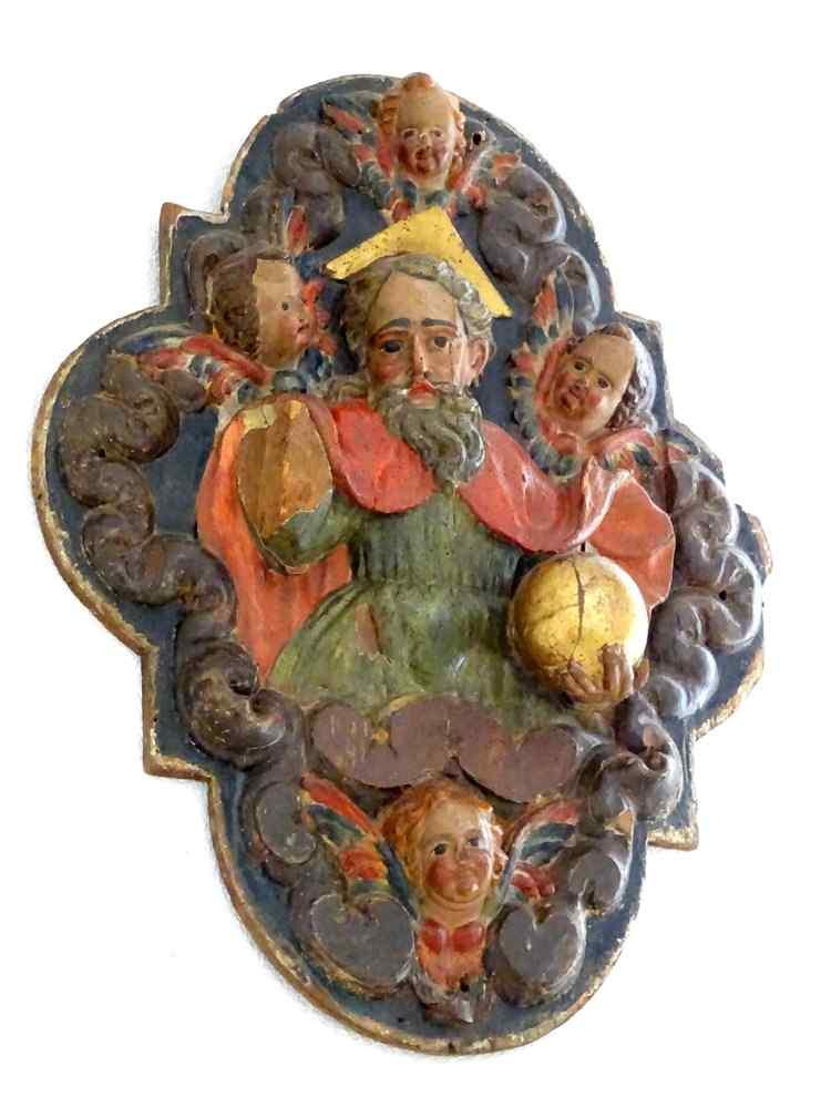 Important Bas-relief Louis XIV Médaillon Quadrilobe